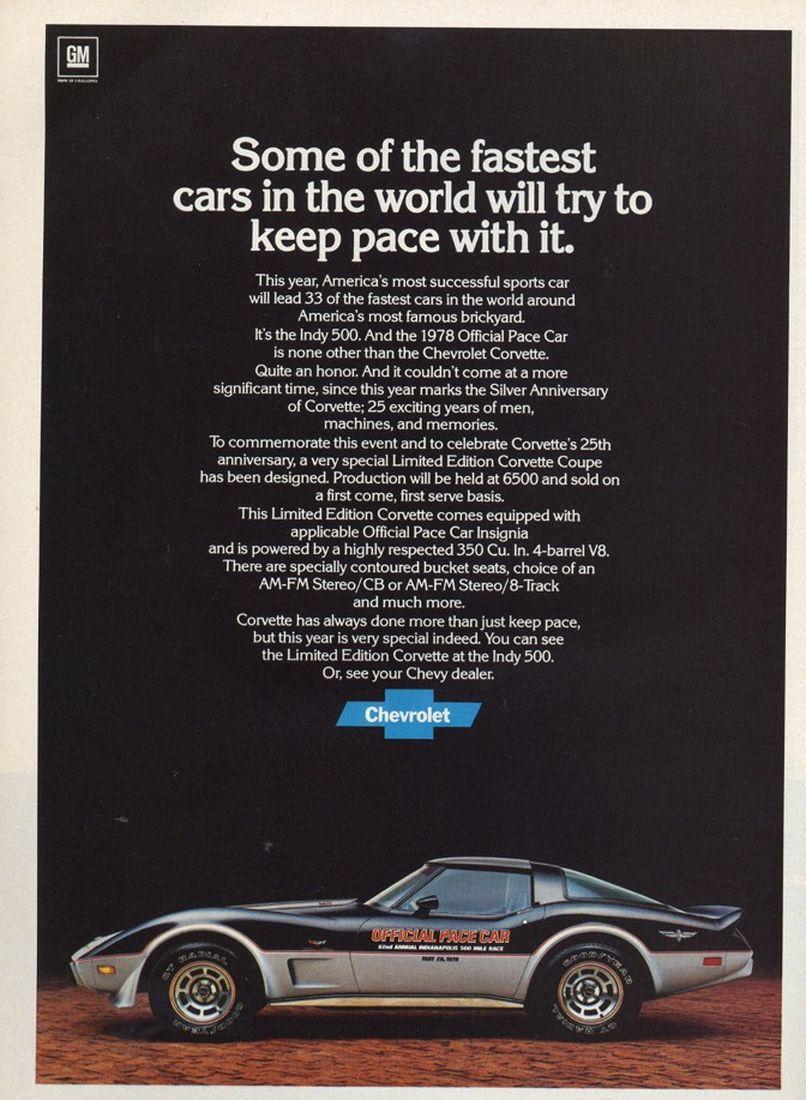 1978 Advertisements 1973 Amp 1978 Corvette Quot Stingray